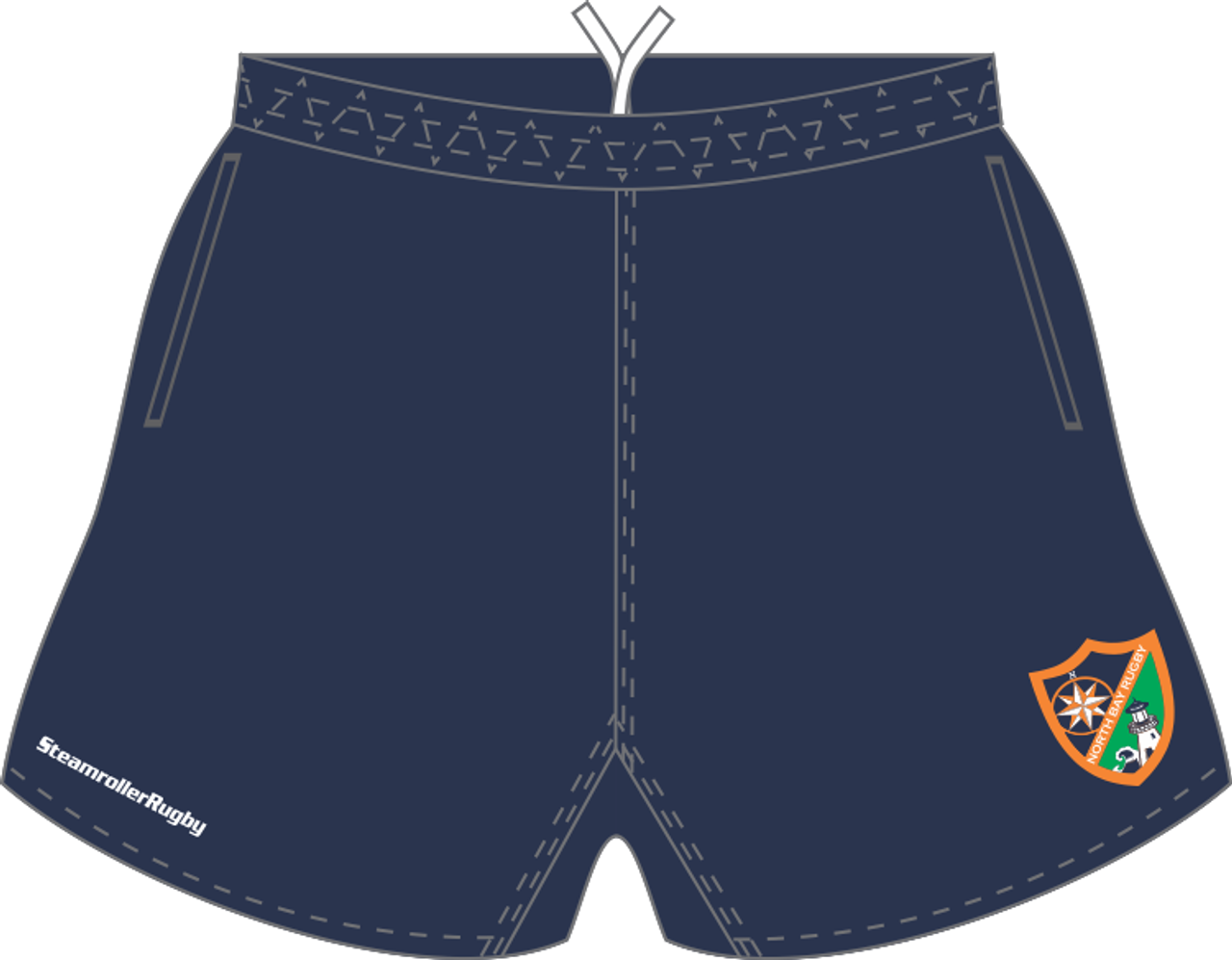 North Bay Pocketed Performance Rugby Shorts
