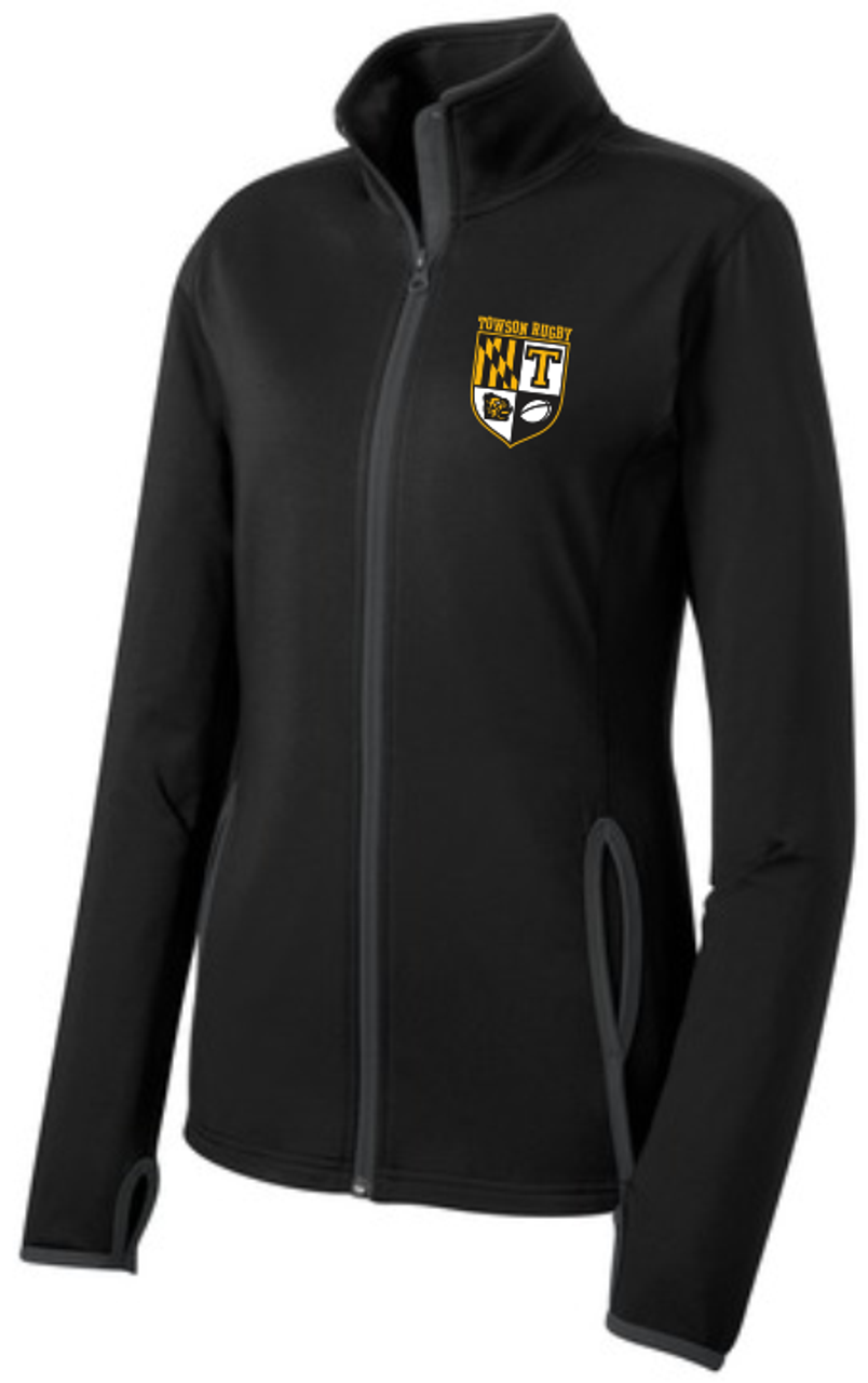 Towson Rugby PolyStretch Full Zip