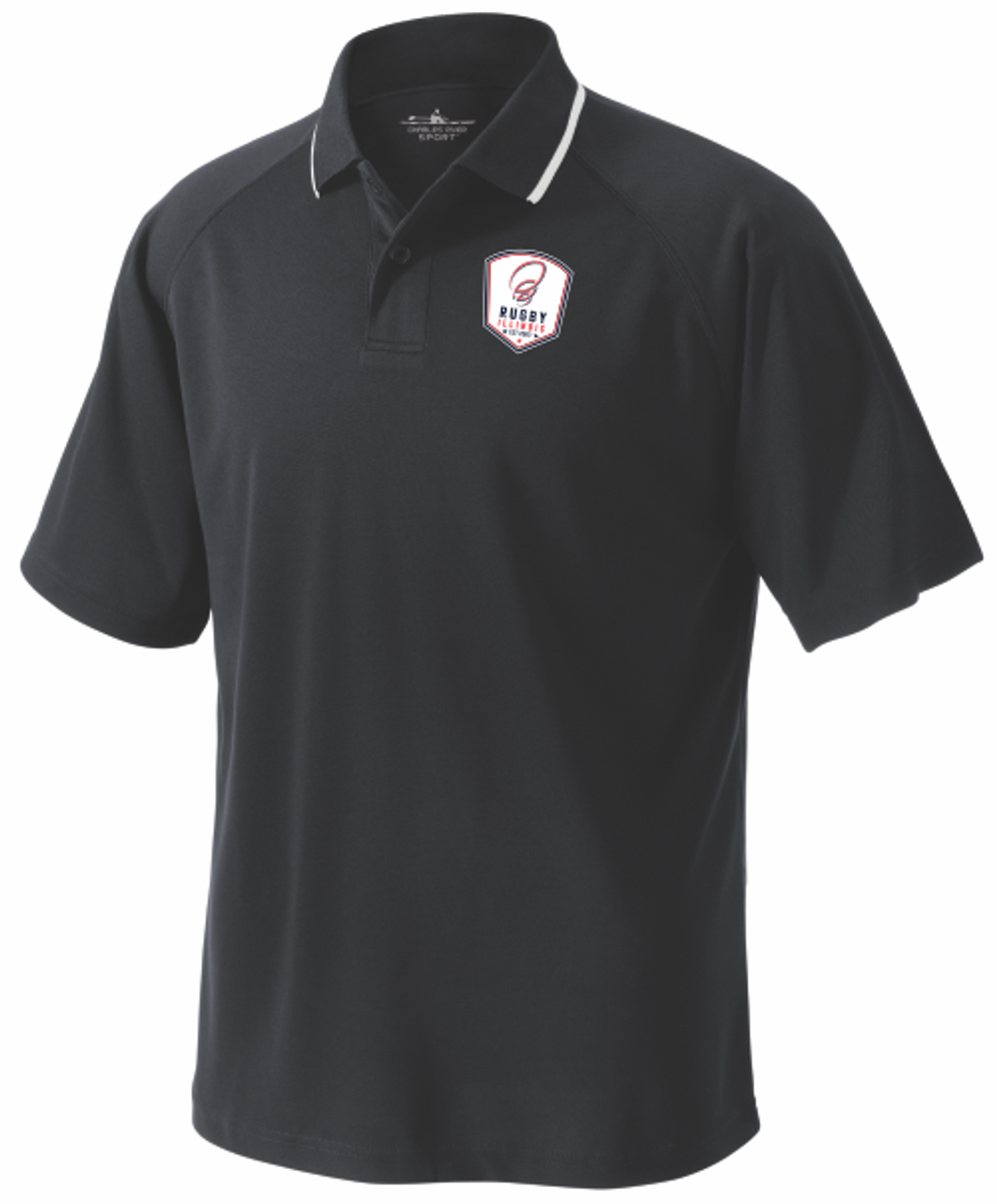 Rugby Illinois Performance Polo, Black