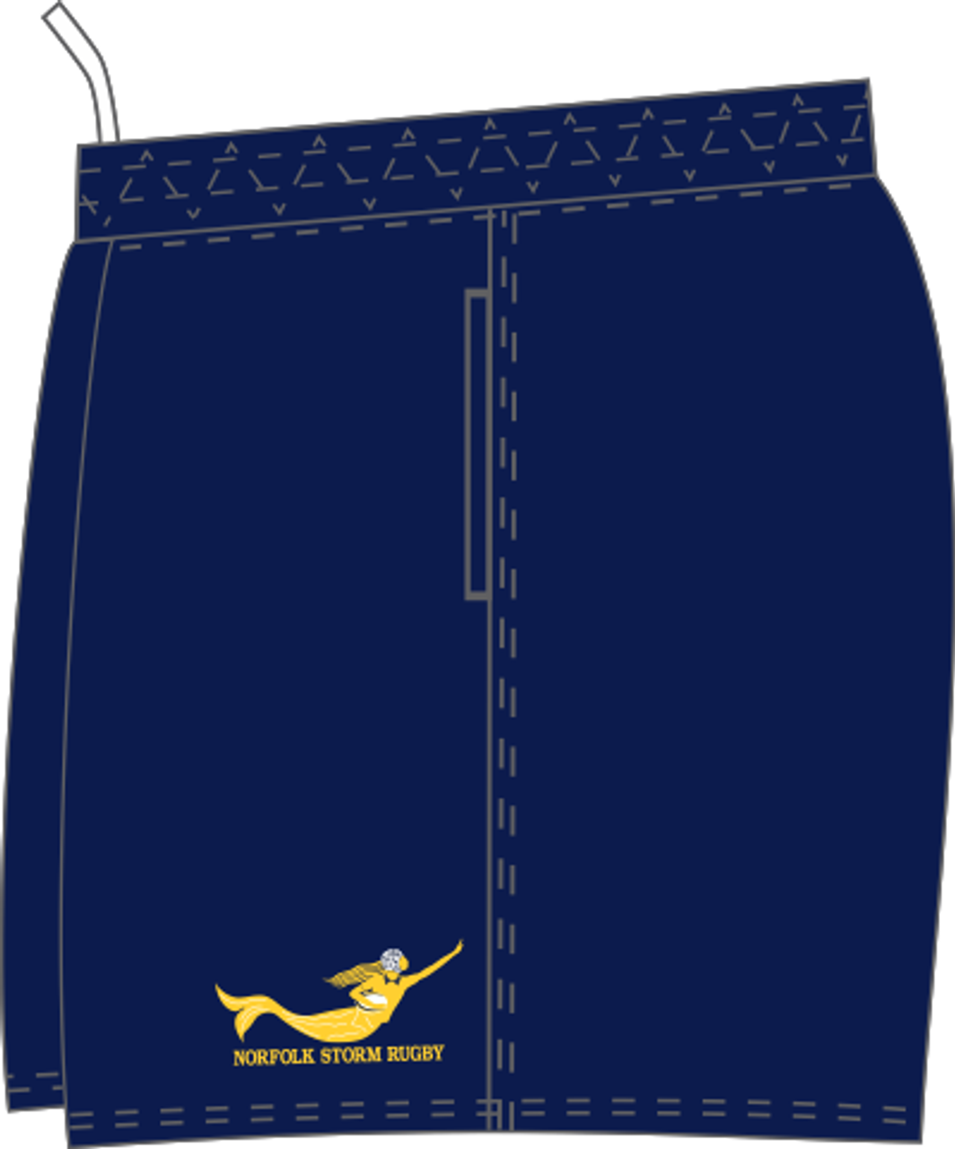 Norfolk Storm SRS Pocketed Performance Rugby Shorts, Navy