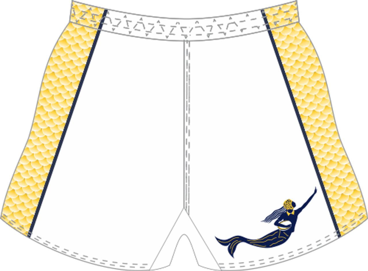 BACK of shorts.