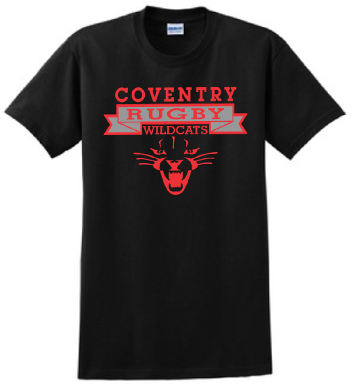 Coventry Rugby Wildcats Cotton Tee, Black