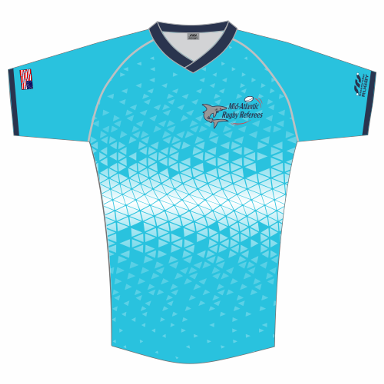 Mid-Atlantic Rugby Referees MATCH FIT Jersey, Blue