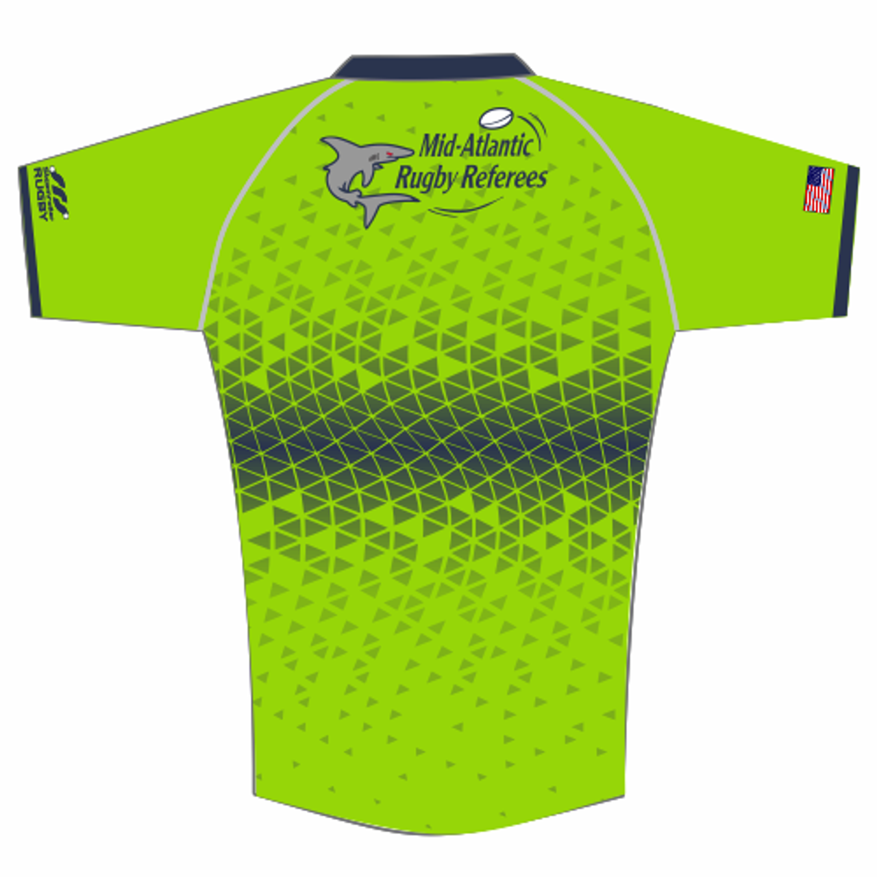 Mid-Atlantic Rugby Referees MATCH FIT Jersey, Bright Green