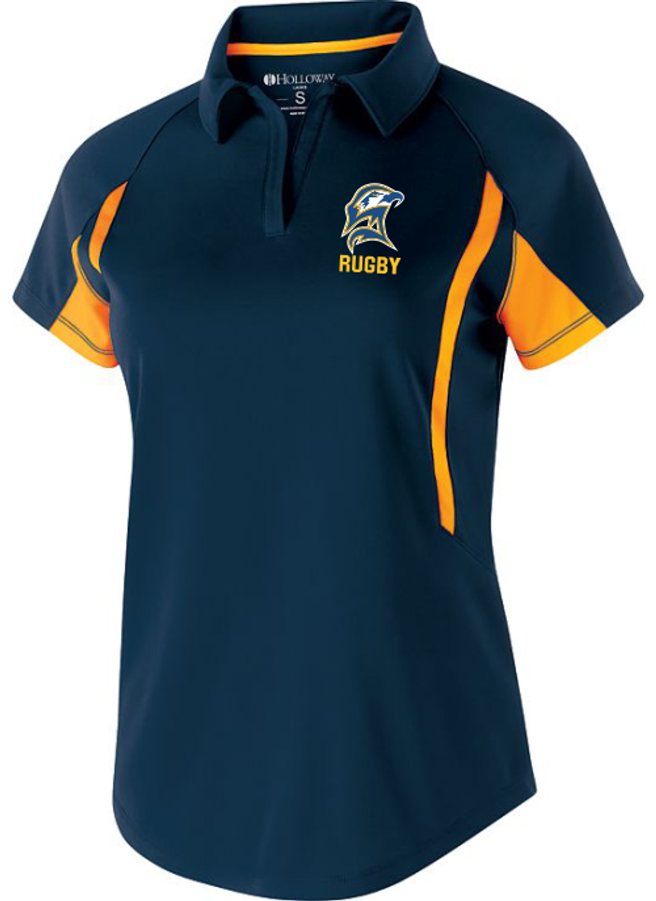 SMCM Rugby Performance Polo, Navy/Gold