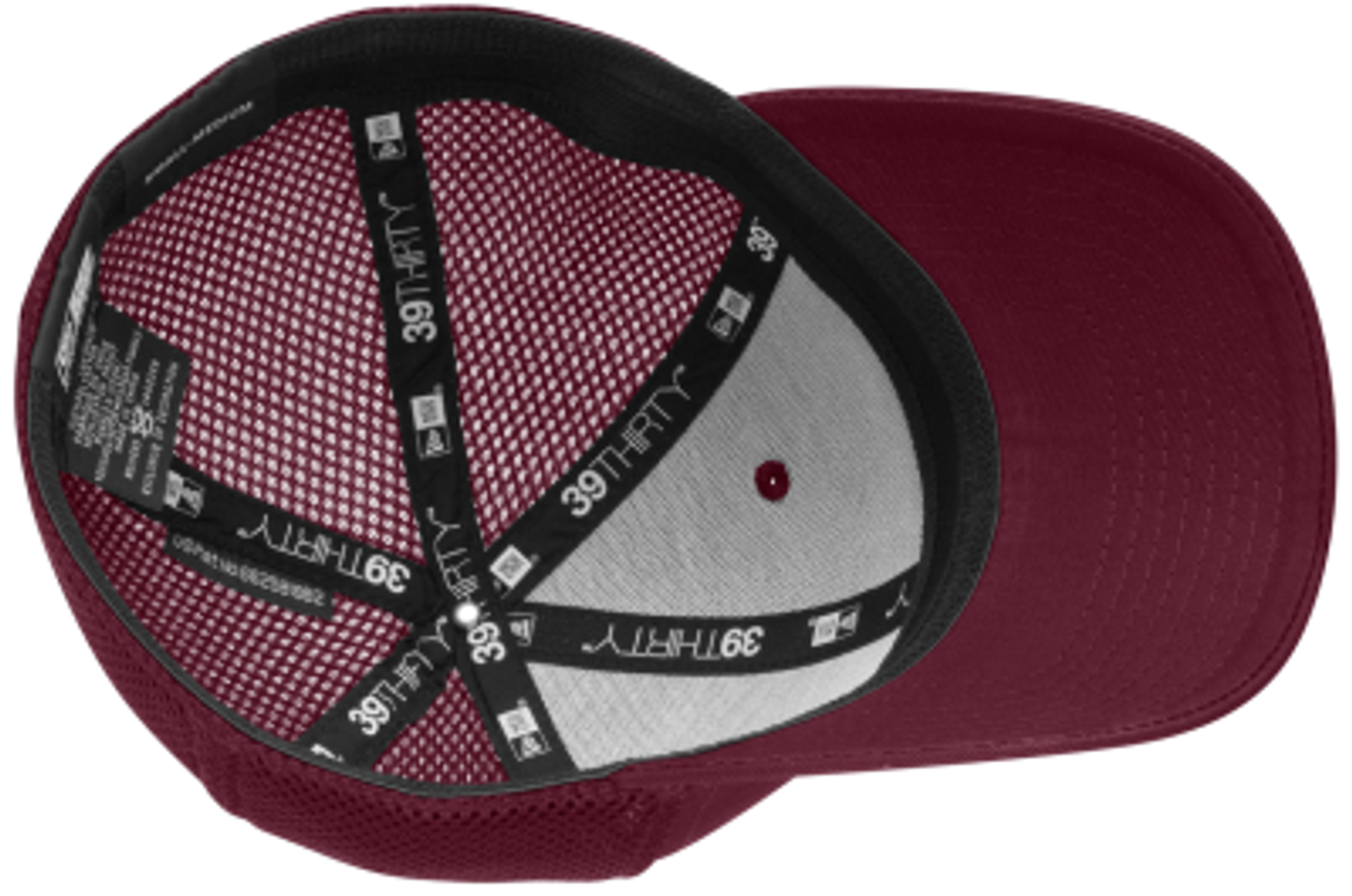 MB Rugby Stretch-Fit Mesh-Back Hat, Maroon