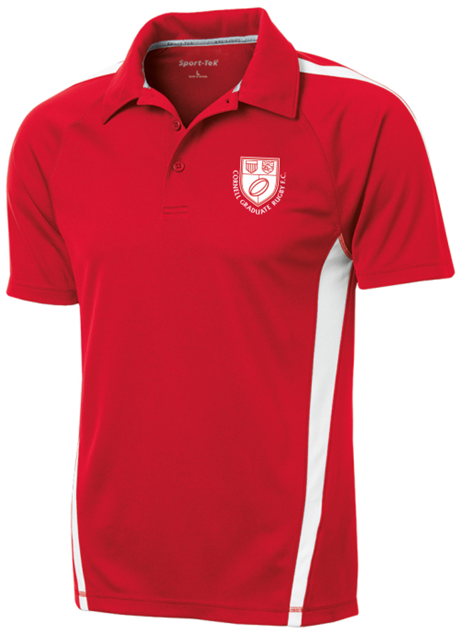 Cornell Graduate Rugby Performance Polo, Red/white