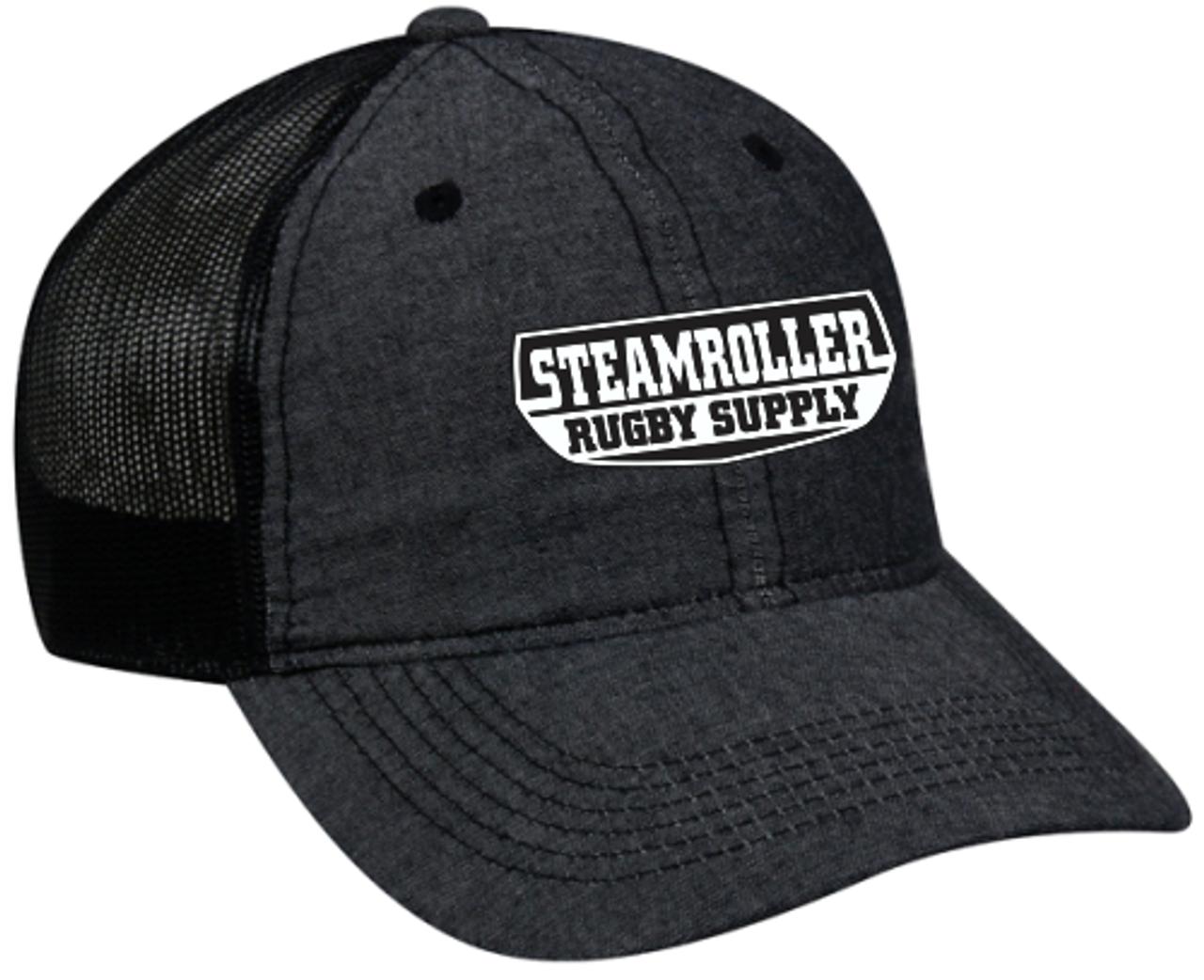 SRS Mesh-Back Adjustable Hat, Black/Black