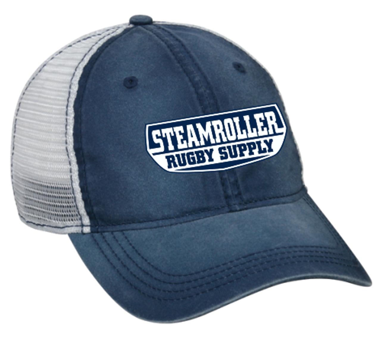 SRS Mesh-Back Adjustable Hat, Navy/ white