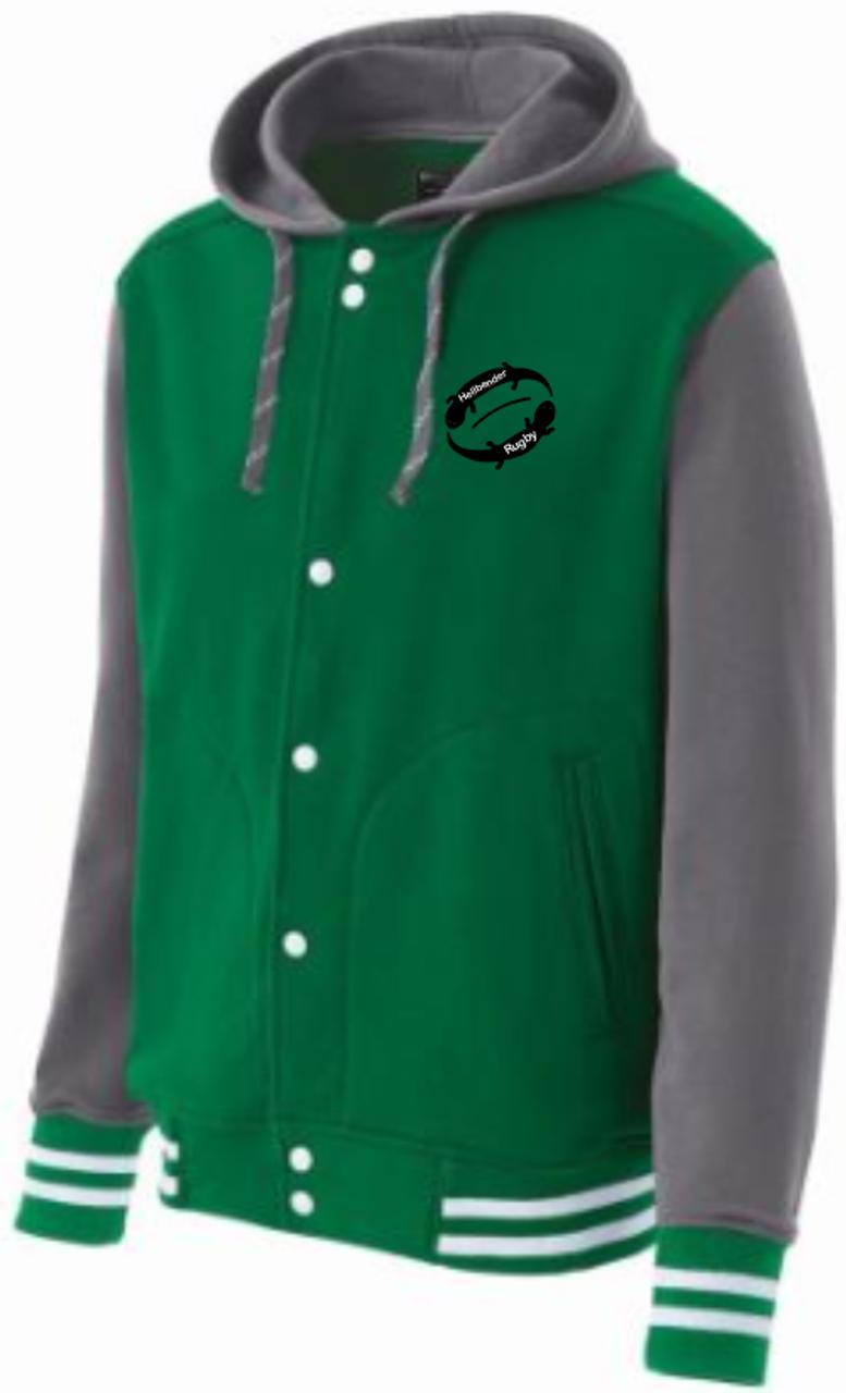 5c33245d2 Juniata Hellbender Hooded Fleece Jacket, Kelly Green
