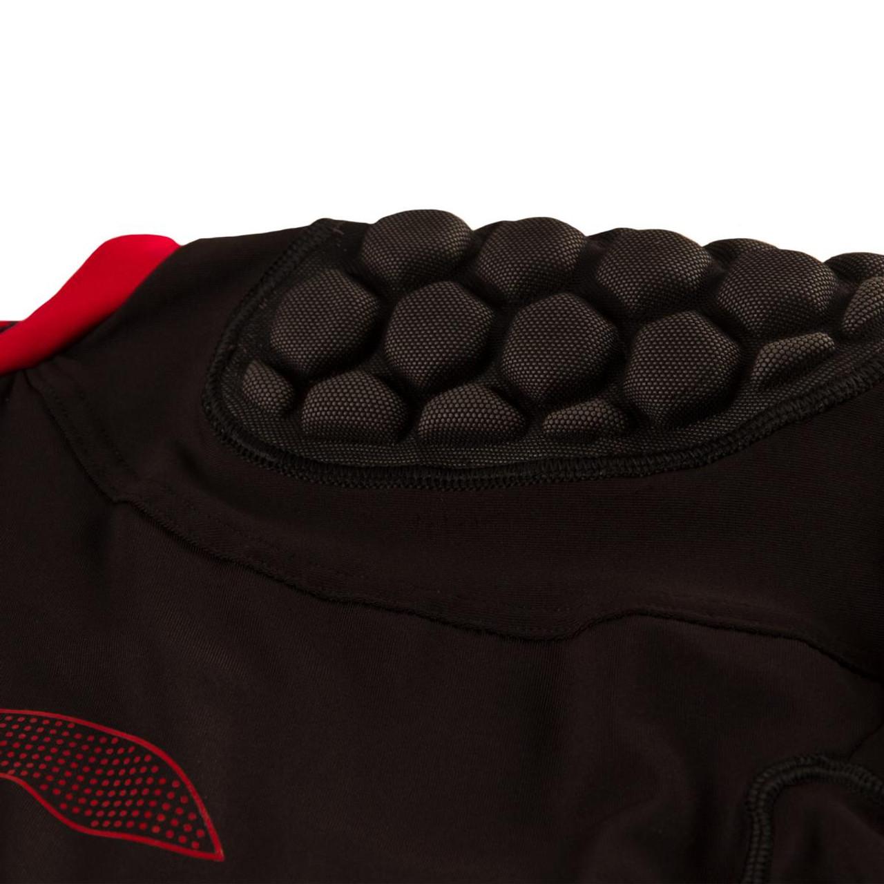 Cellular foam padding in the shoulder.