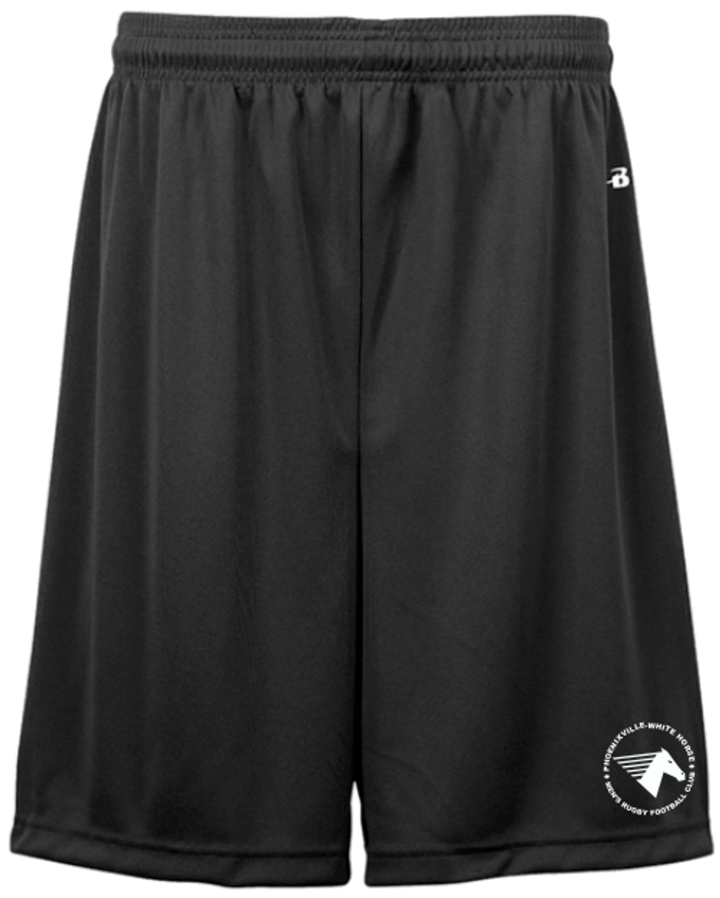 White Horse RFC Gym Short, Black