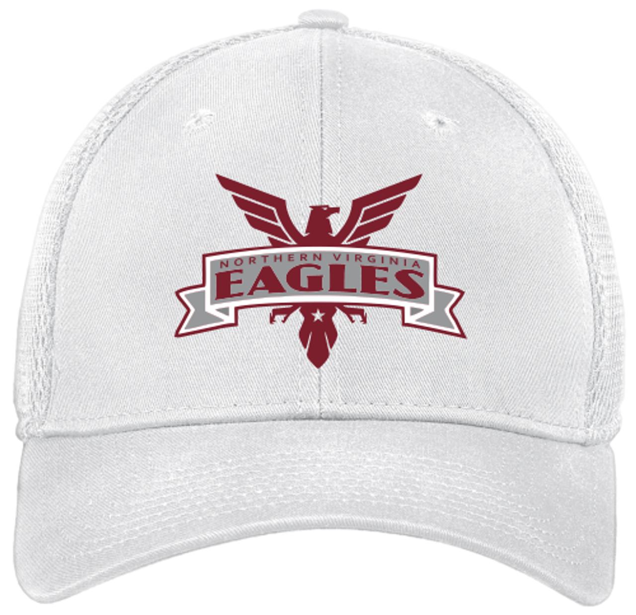 NOVA Eagles Stretch-Fit Mesh-Back Hat, White