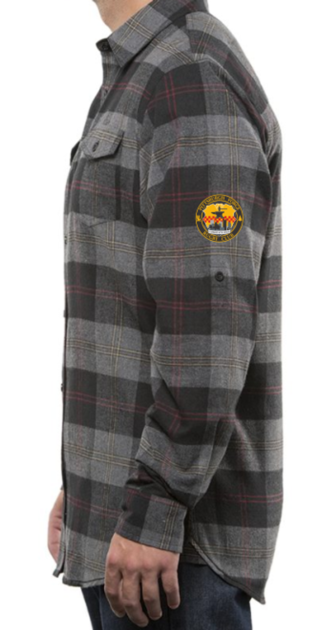 Forge Men's-Cut Button-Down Flannel Shirt