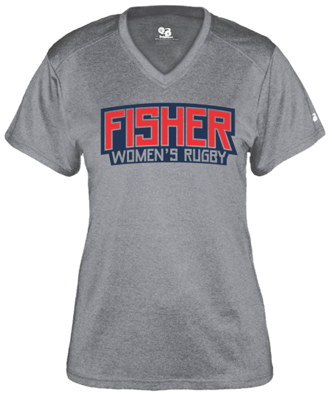 Fisher WRFC Performance Tee, Heather Gray