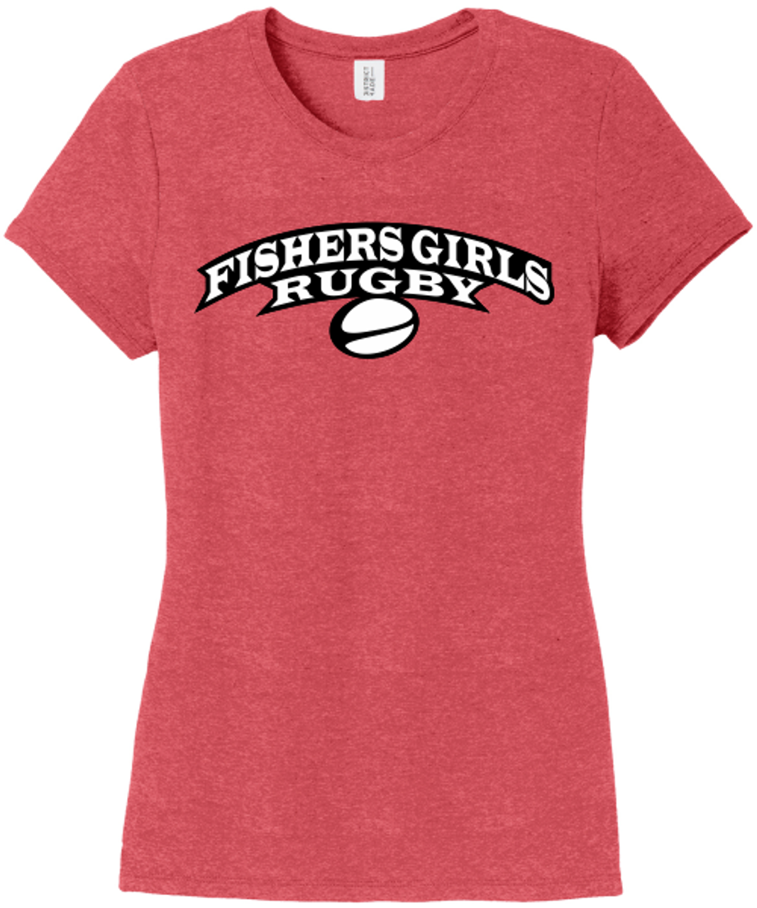Fishers Girls Triblend Tee, Red