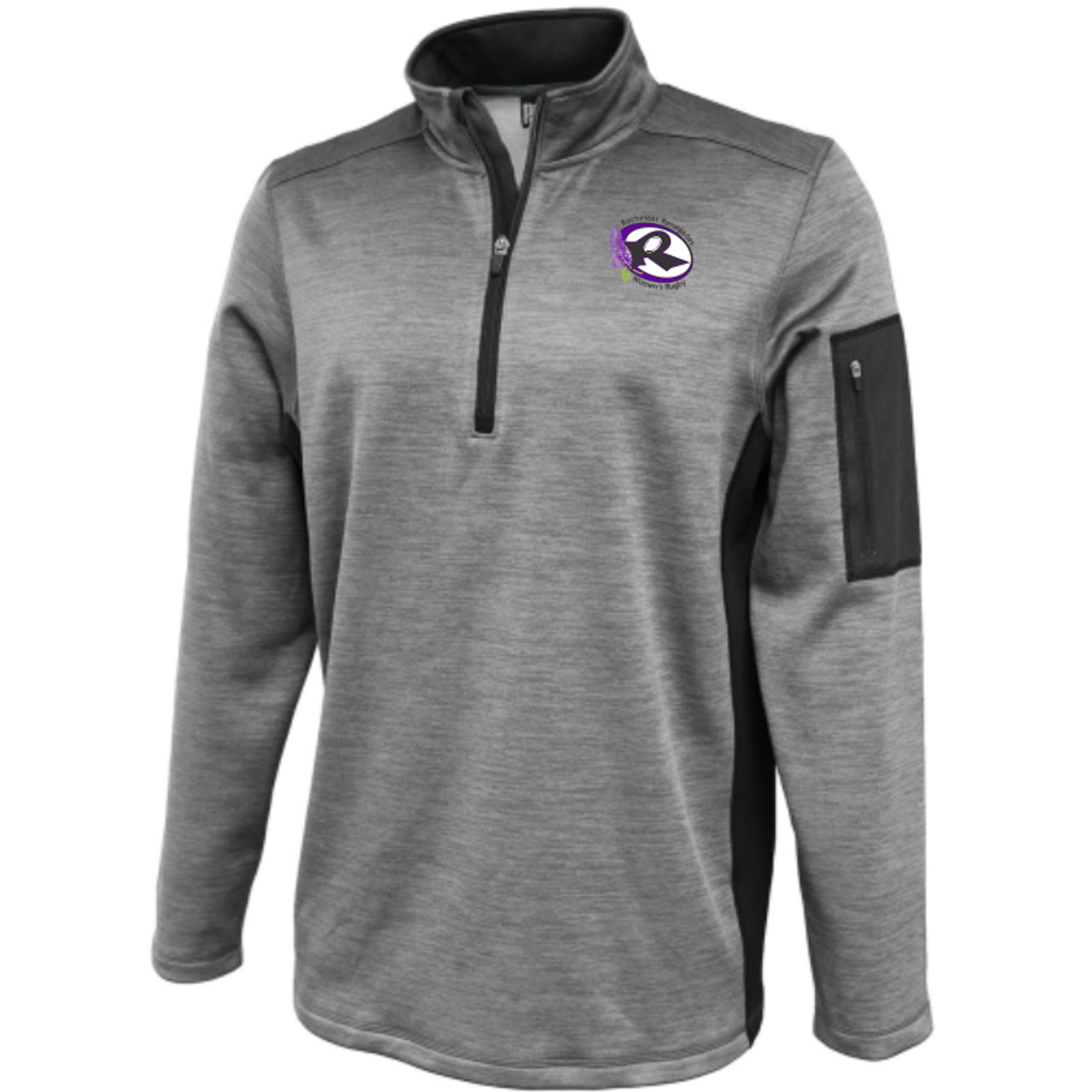 Rochester Renegades Performance Fleece 1/4-Zip, Silver