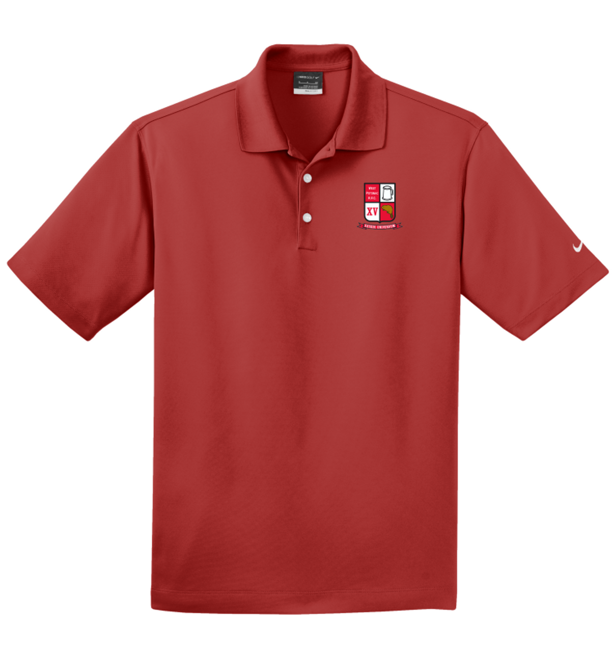 West Potomac Nike Micro-Pique Polo, Red