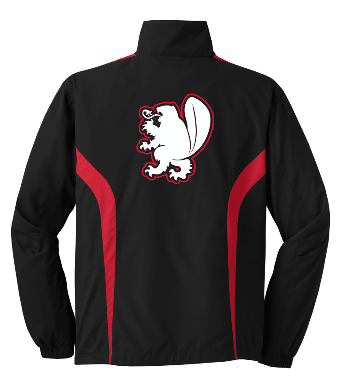 West Potomac Colorblock Jacket, Black/Red