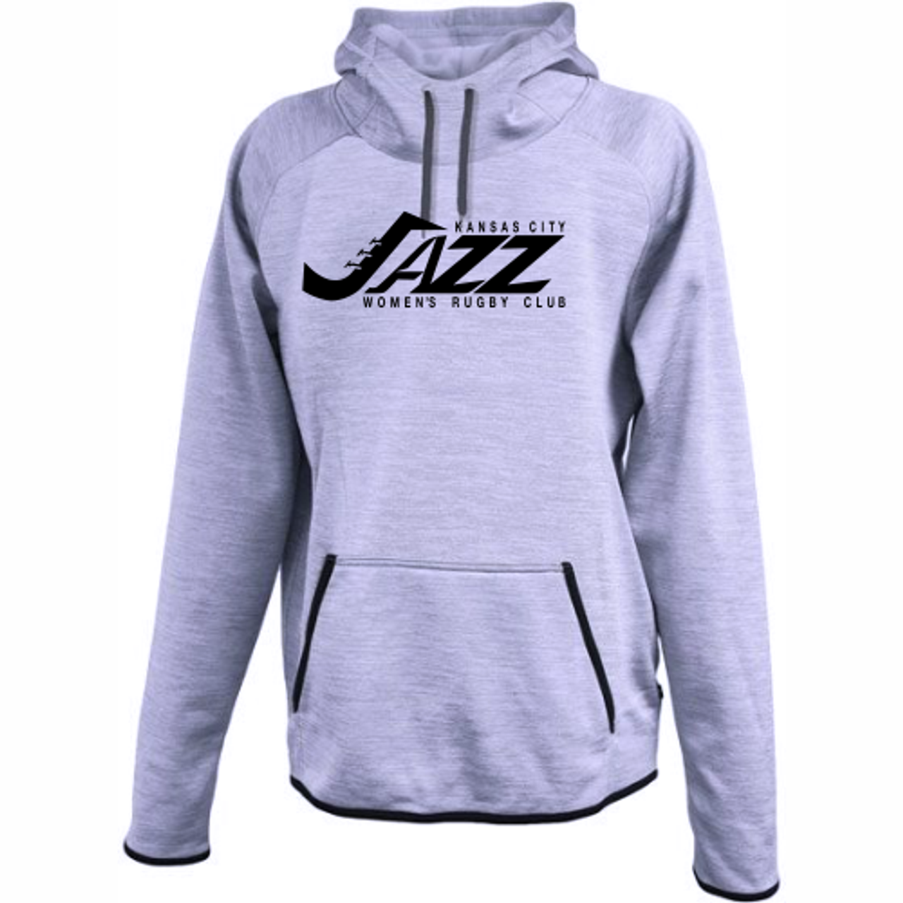KC Jazz Performance Fleece Hoodie, Heathered Purple