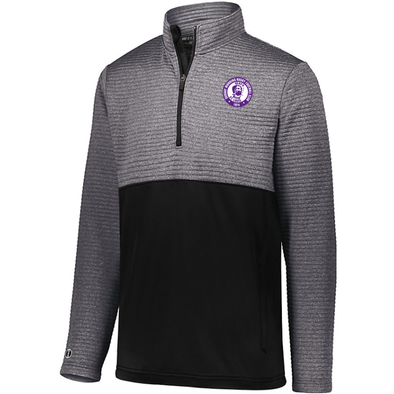 Sunday Morning Rugby 1/2-Zip Quilted Pullover