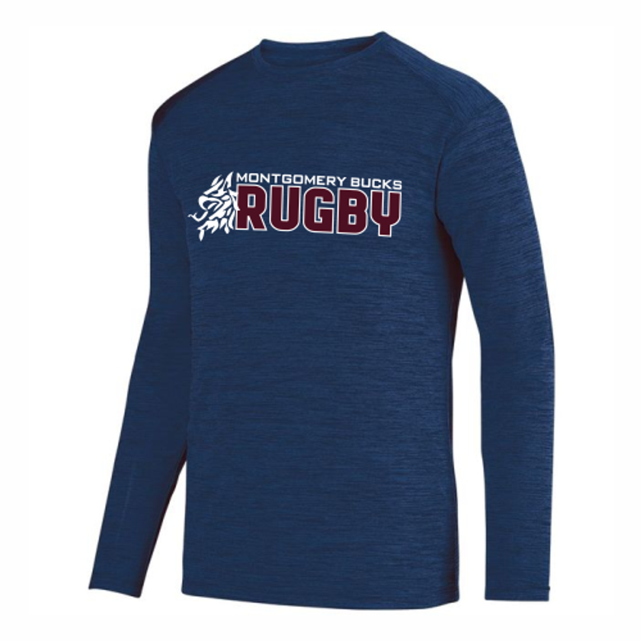 MB Rugby Tonal Performance Tee, Navy
