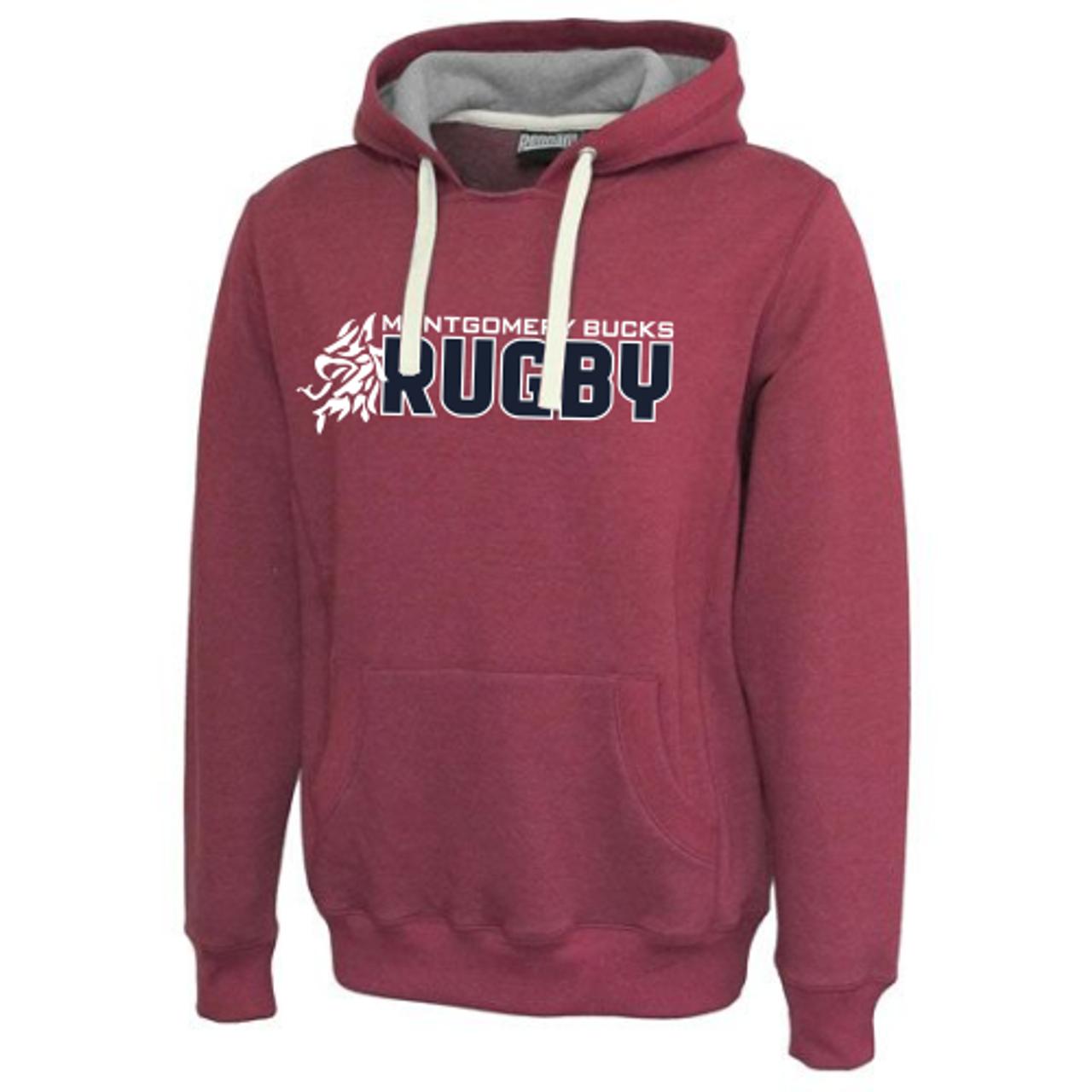 MB Rugby Throwback Hoodie, Maroon