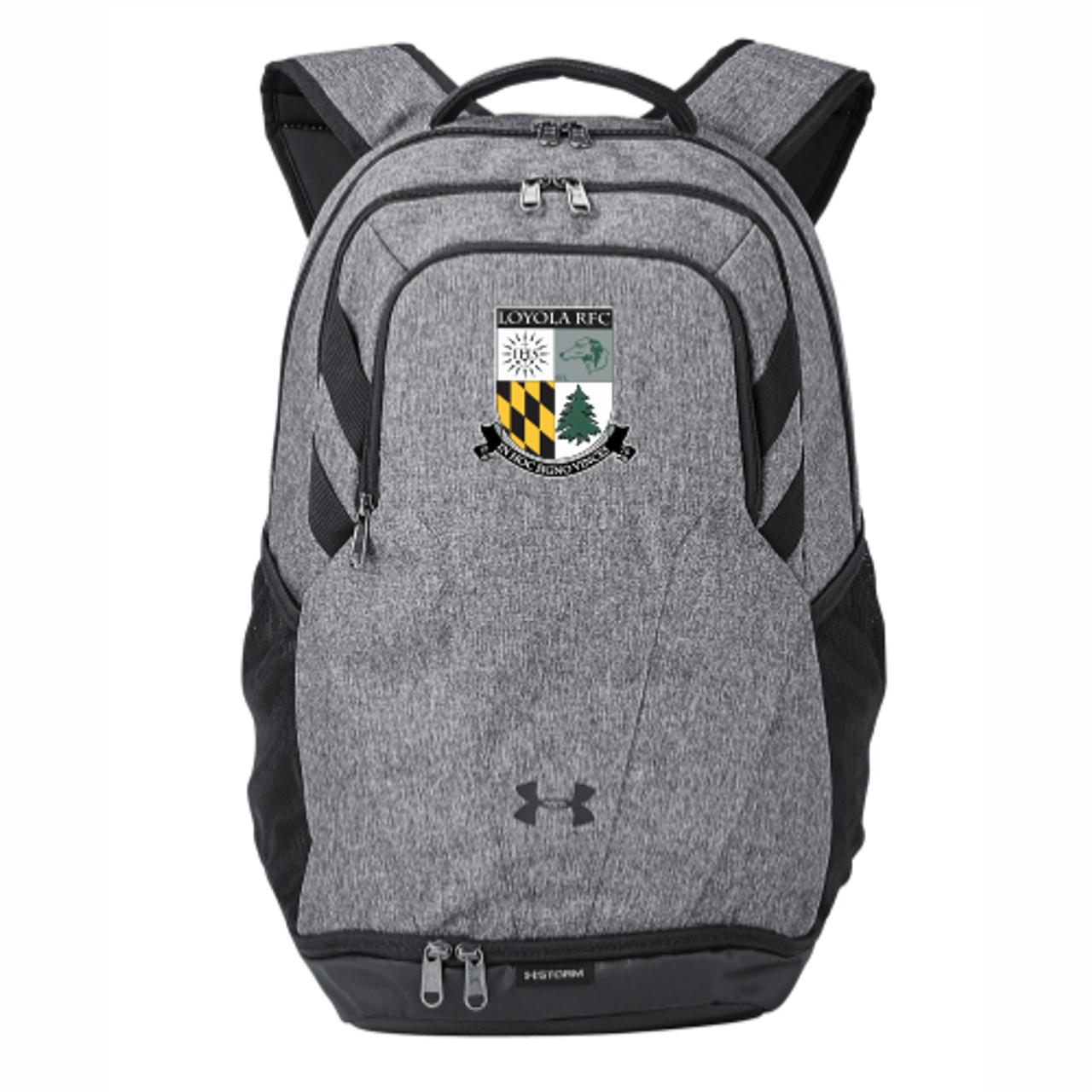 Loyola Rugby UA Team Hustle 3.0 Backpack, Graphite Heather