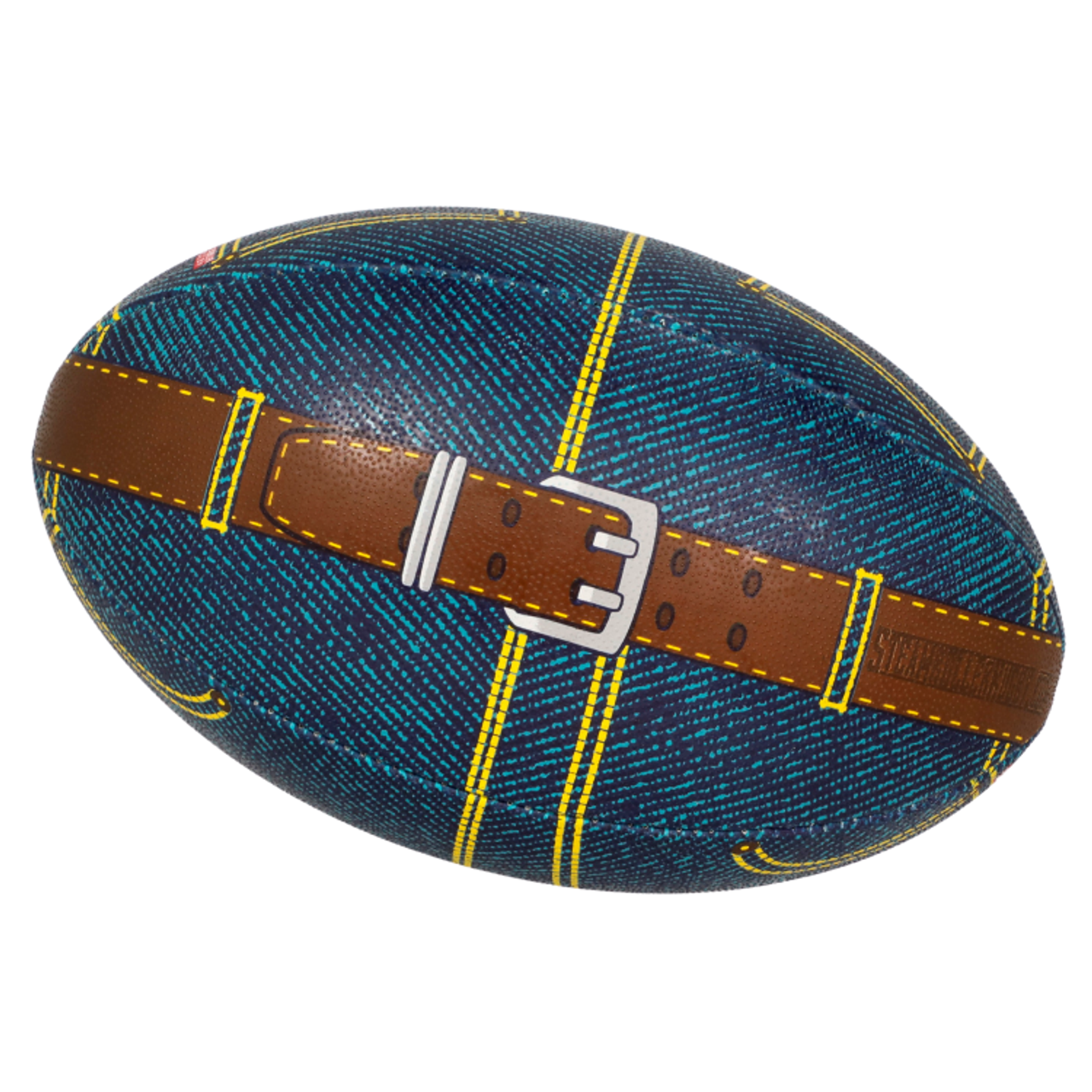 Blue Jean Size 5 Rugby Ball