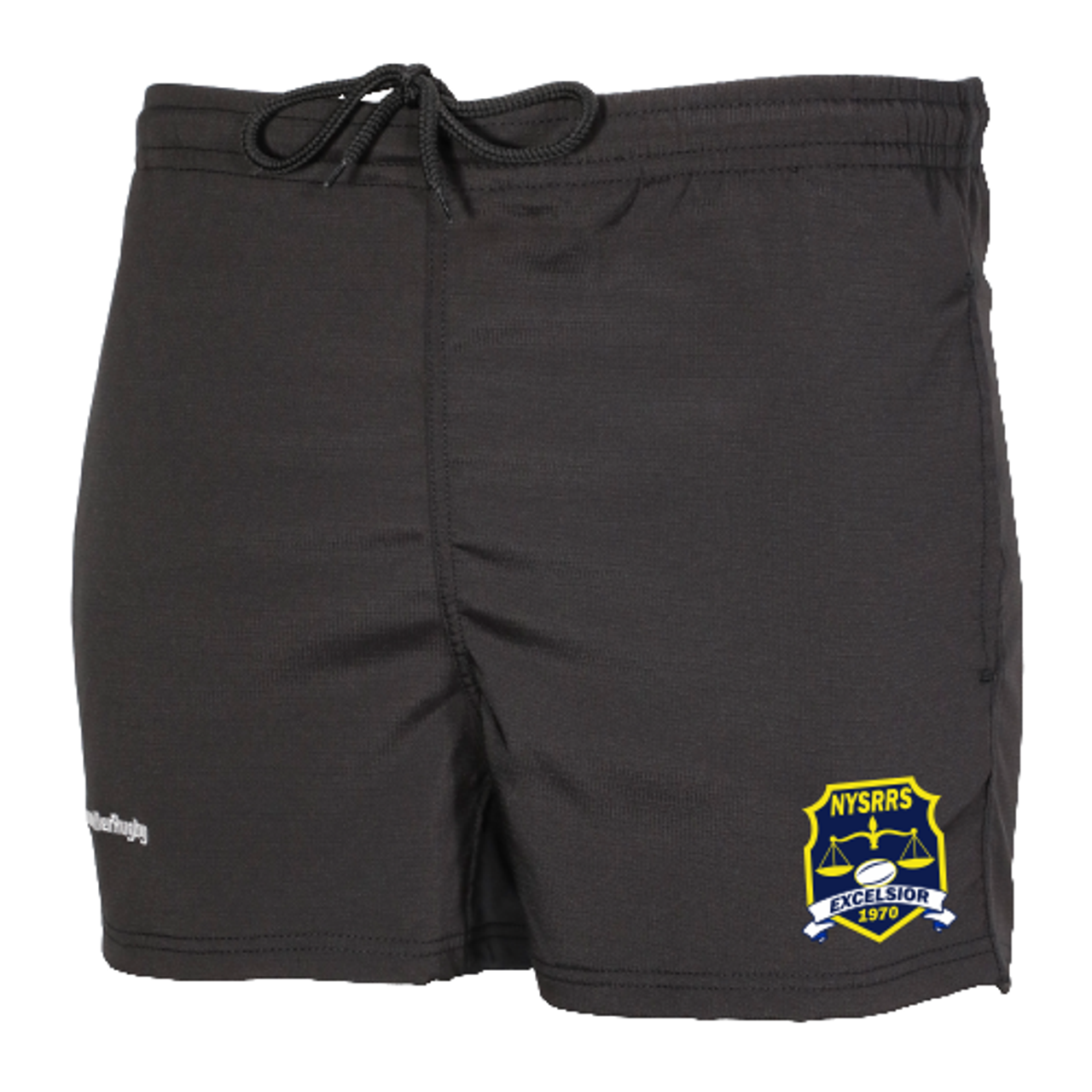 NYSRRS Pocketed Performance Rugby Shorts, Black