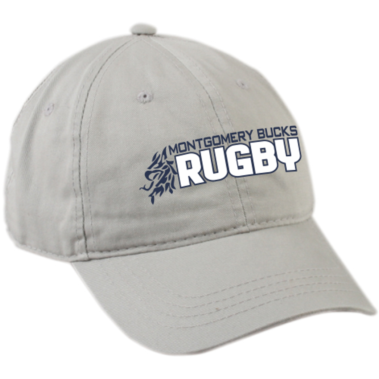 MB Rugby Twill Adjustable Hat, Light Gray