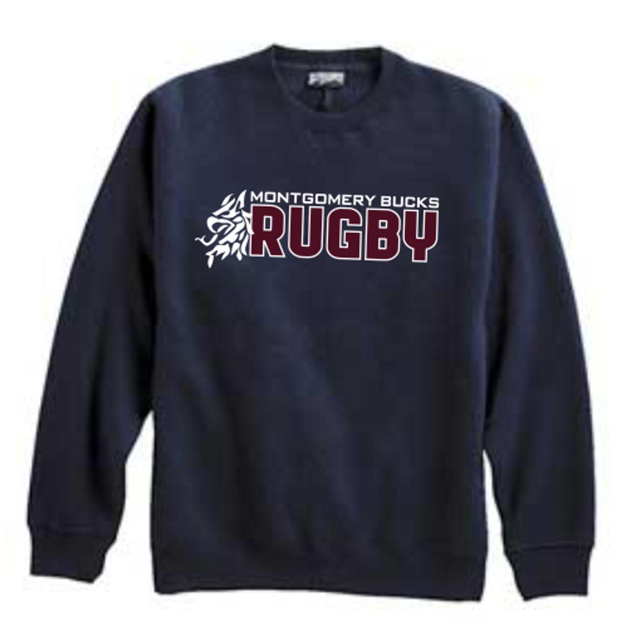 MB Rugby Crewneck Sweatshirt, Navy