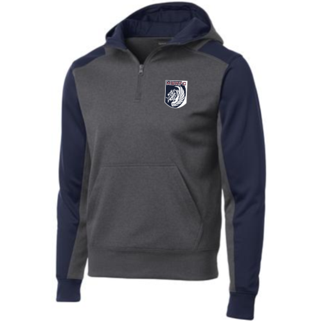 MB Rugby 1/4-Zip Performance Fleece Hoodie