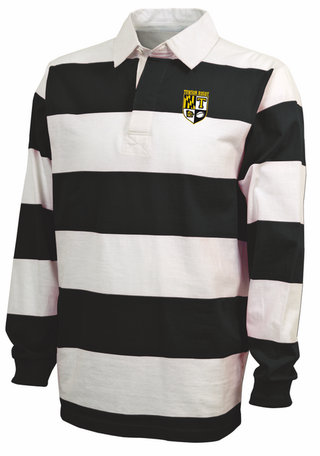 Towson MEN Rugby Stripe Polo