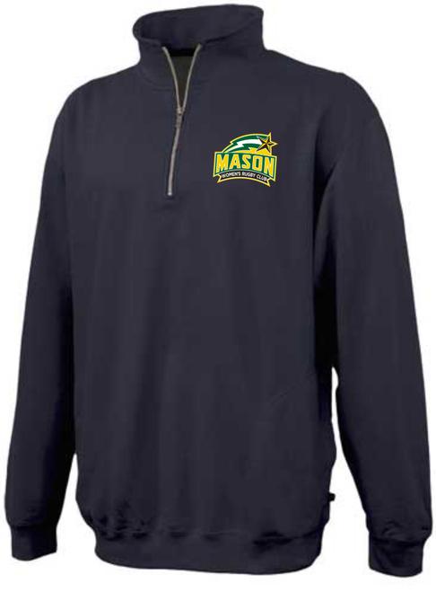 George Mason Women 1/4-Zip Fleece, Black