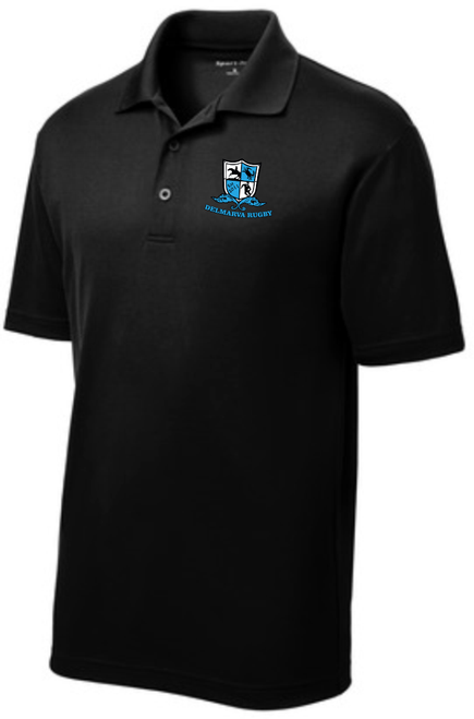 Delmarva Rugby Performance Polo, Black