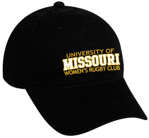 Mizzou WRFC Twill Adjustable Hat, Black