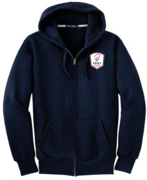 Rugby Illinois Super Heavyweight Full-Zip Hoodie, Navy