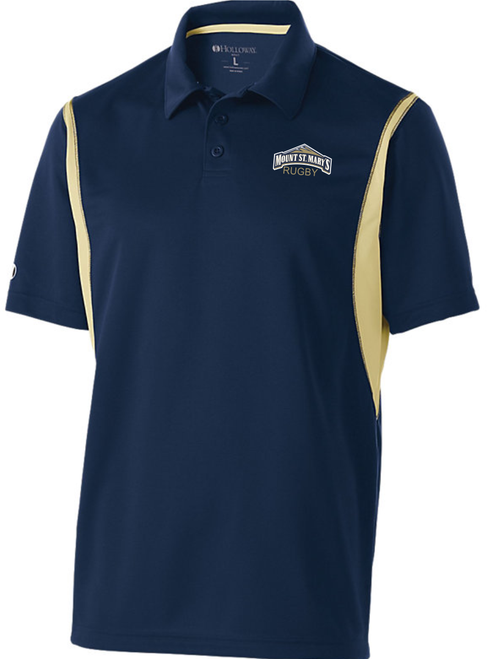 MSM Rugby Performance Polo, Navy/Vegas Gold