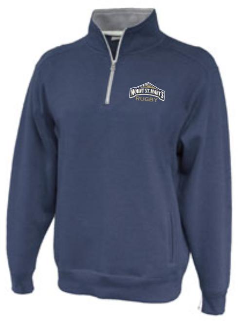 MSM Rugby 1/4-Zip Fleece, Heathered Navy