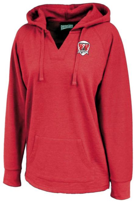 Loudoun Rugby Ladies-Cut Hoodie, Heathered Red