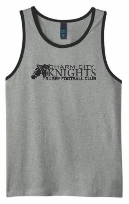 Charm City Knights Tank Top, Gray/Black