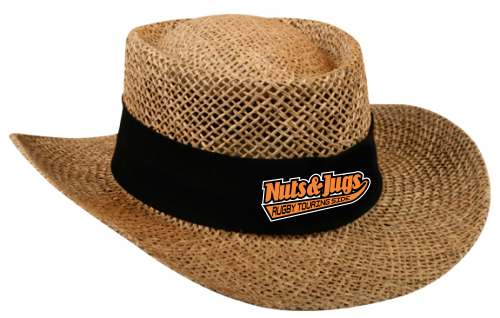 Nuts & Jugs RTS Straw Gambler Hat