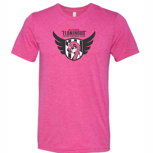 Baltimore Flamingos Triblend Tee, Neon Pink