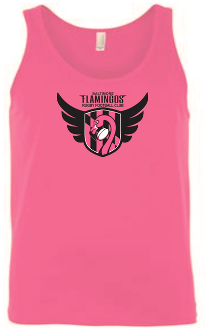 Baltimore Flamingos Ringspun Cotton Tank, Neon Pink