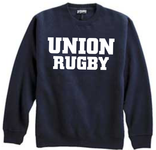 Union Rugby Crewneck Sweatshirt, Navy