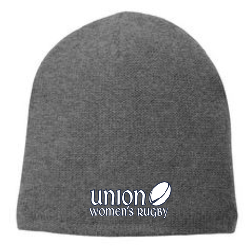 Union Women's Rugby Fleece-Lined Beanie, Oxford Gray