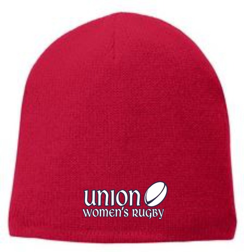 Union Women's Rugby Fleece-Lined Beanie, Red
