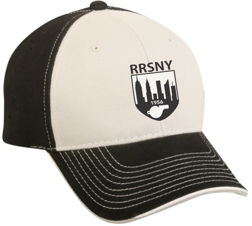 RRSNY Twill Adjustable Hat, White/Black
