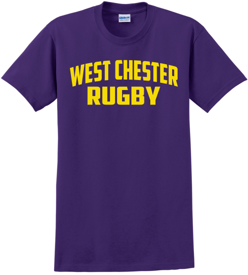 West Chester Rugby Cotton Tee, Purple